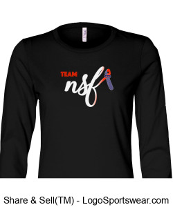 Ladies Relaxed Jersey Long Sleeve Tee / Black Design Zoom